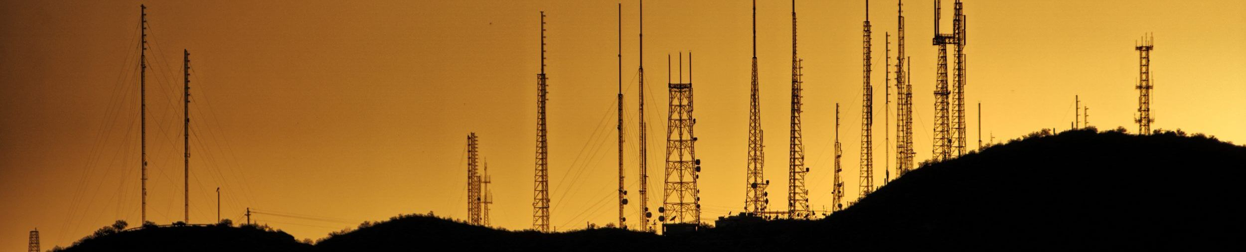 Cell Towers on a Hill